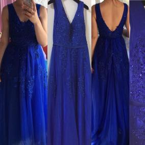 9e2538faa Vestido Dama Honor Barato - Vestidos de Mujer Graduación Largo Azul ...
