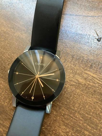 Relógio De Pulso Vidro Pirâmide Cristal