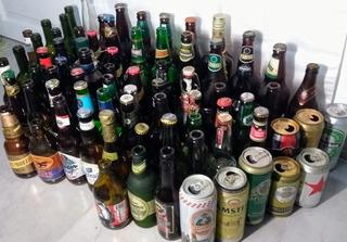 Lote 69 Botellas Para Decoración + 8 Latas De Regalo