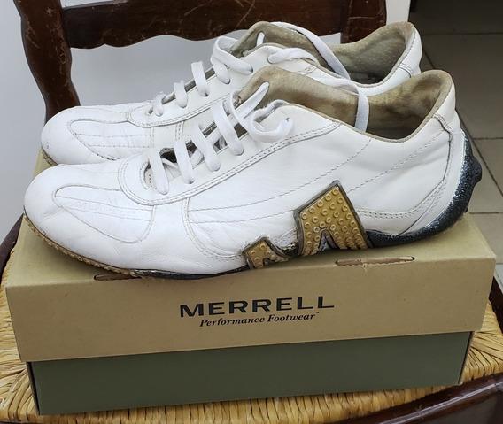 Zapatillas Merrell Hombre Blancas Cuero