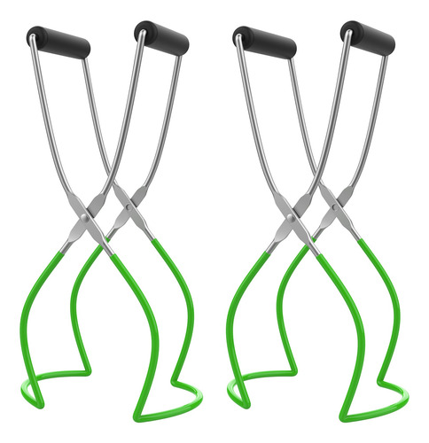 2pcs Canning Jar Lifter Tongs Aço Inoxidável Household Kitc