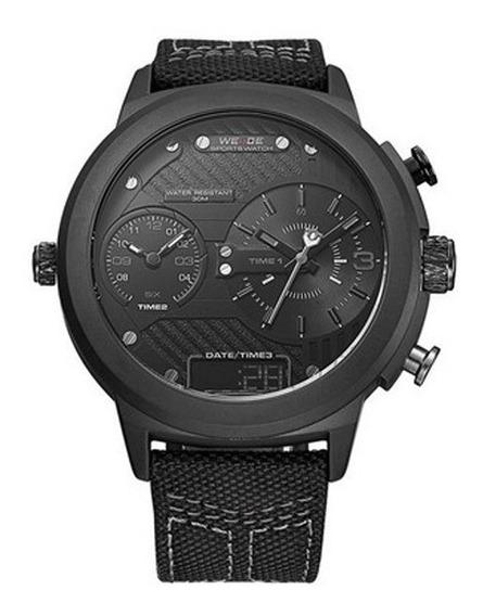 Relógio Masculino Anadigi Weide Wh 6405 Preto Pronta Entrega