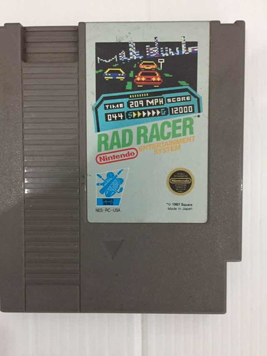 Rad Racer Nintendo