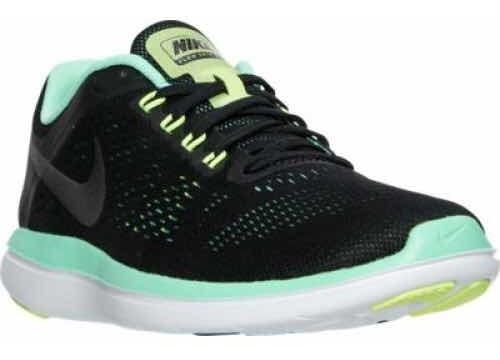 Tenis Nike Para Dama Nike Flex Rn Running Negro Con Verde