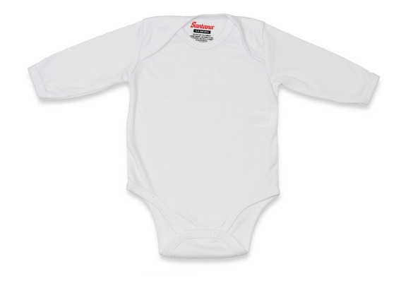 Body Manga Larga Blanco Para Bebé