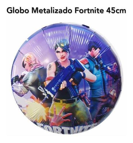 Globo Metalizado Fortnite Único X1 Con Helio !!