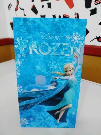 10 Bolsas De Papel Frozen 21x12x6cm Fiestissima Liniers