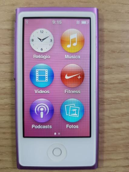 iPod Nano 7 Lilás 16gb Bluetooth Rádio Usado + Fone Original