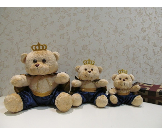 3 Ursos Príncipe G, M, P - Bege/azul Marinho
