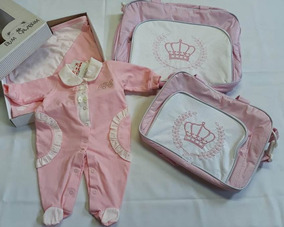 Kit Saída Maternidade + Sacola E Frasqueira Maternidade Rosa