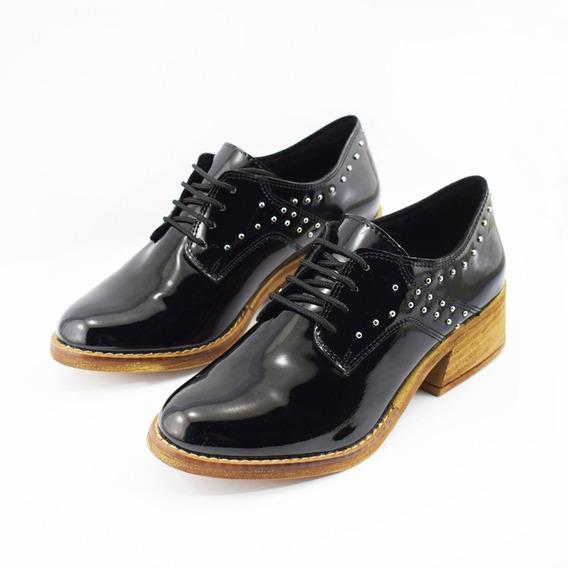 Zapatos Savage Negro Charol