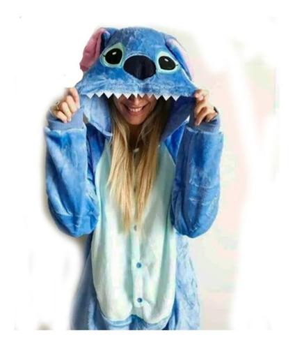 Imagen 1 de 4 de Pijama Disfraz Kigurumi Tipo Stitch Adulto