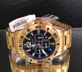 Relógio Masculino Nautica Hour Flag Gold A27524g1