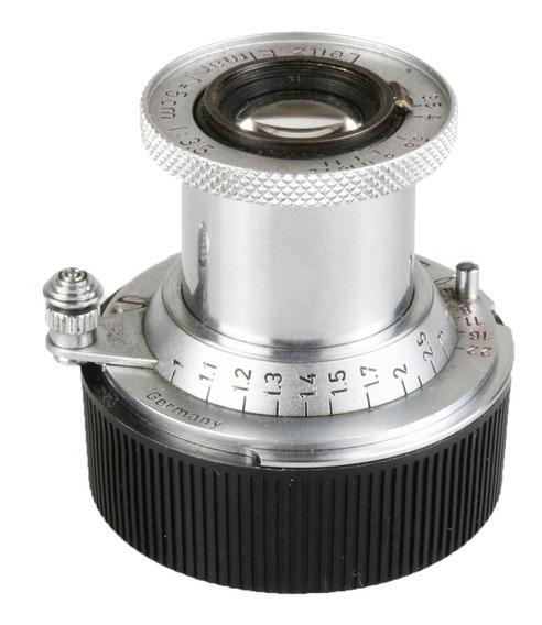 Objetiva Leica Elmar M39 50mm F3.5 Com Anel Para Encaixe M