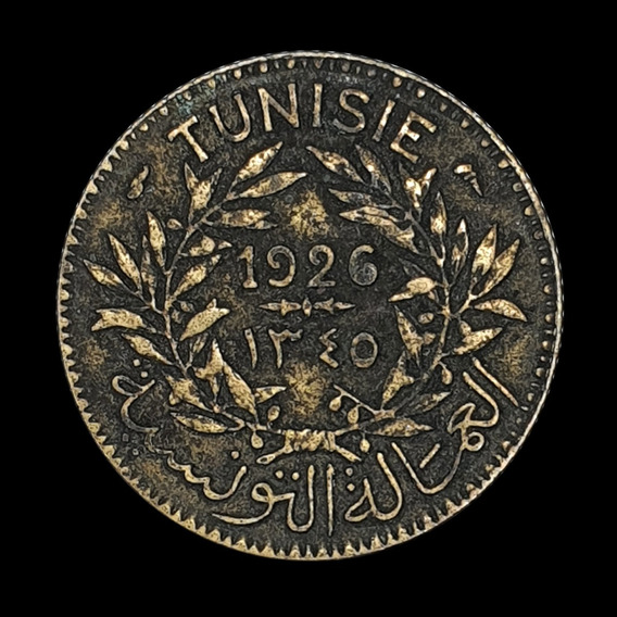 Ch C / Tunez, Protectorado Frances - 1 Franc 1926 Km#247