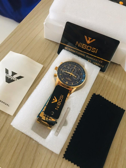 Relógio Nibosi 2351 Social À Prova D