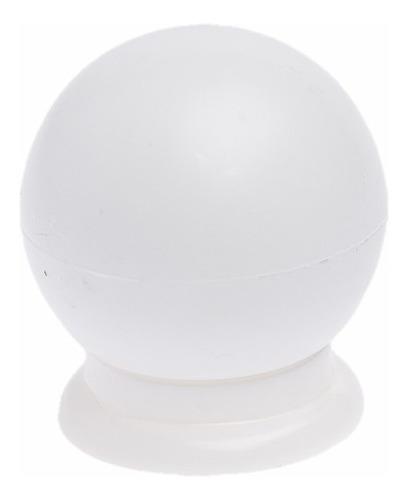 Imagem 1 de 3 de Kit 30 Puxador Gaveta Porta Armario Bola Branco Com Parafuso
