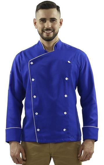 Jaqueta Chef Masculino Azul Royal Gastronomia Buffet