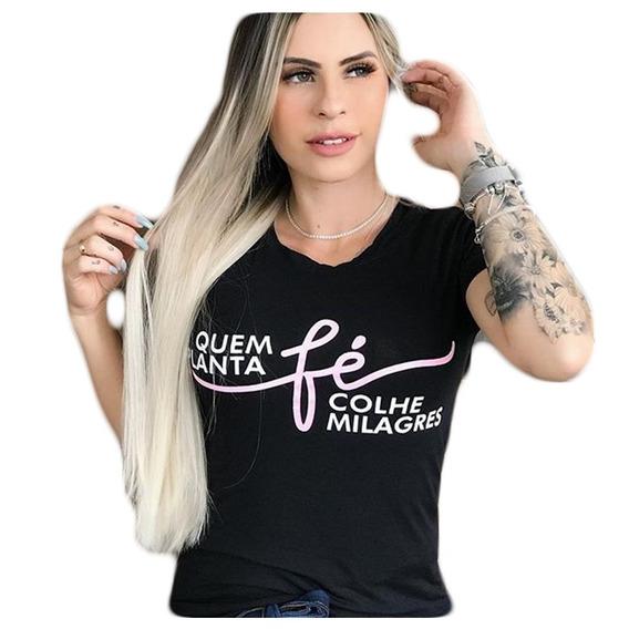 Kit 10 Blusas Camisetas Femininas Frases Da Moda Revenda