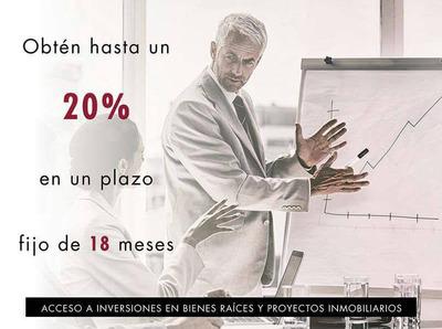 Invierte Con Nosotros, Gana El 20% A 18 Meses 5524970515