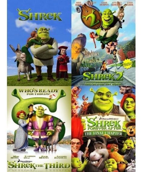 Shrek 1, 2, 3 E 4 - Filmes Dublados Coleção