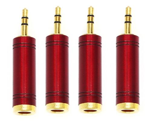 Imagem 1 de 5 de Kit 4 Plug Adaptador Star Cable J10st X P2 Stereo C/ Trava