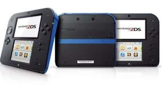 Console Nintendo 2ds 3ds Original Preto Azul 4 Jogos Bag 4gb