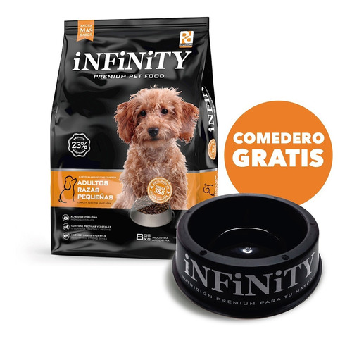 Alimento Perros Razas Pequeñas Infinity Premium 8 Kgs