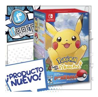 Pokemon Lets Go Pikachu Pokeball Plus Bundle Nintendo Switch