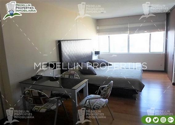 Apartamentos Amoblados Economicos En Medellin Cód: 4555