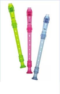 Flauta Traslucida Colores X Unidad - Escolar