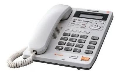 Teléfono Alambrico/panosic/ Contestadora/ Memoria/ Blanco
