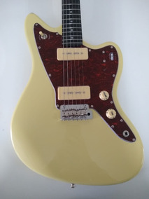 Guitarra Tagima Woodstock Tw-61 Tw61 Jaguar Branco Vintage