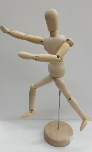 Boneco Articulado Madeira 20cm - Moda Arte Manequim