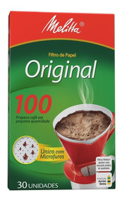 Filtro De Papel 100 Melitta - Cor Branco