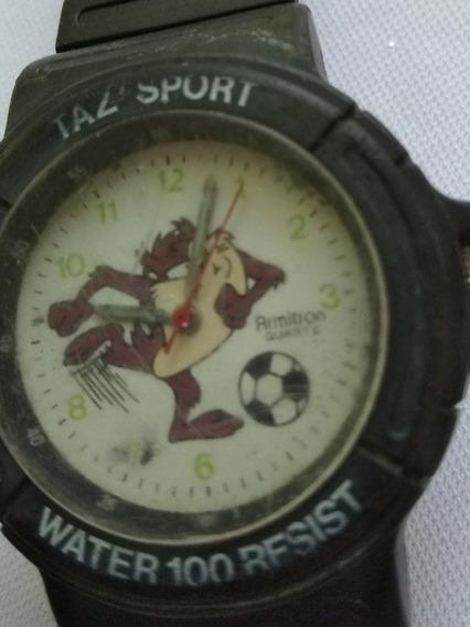 Reloj Retro Taz Sport Fútbol Armitron Con Detalle Para Pieza