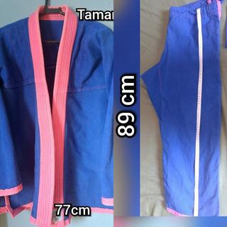 Kimono Rosa E Azul Feminino Jiu Jitsu Semi Novo- Pouco Uso