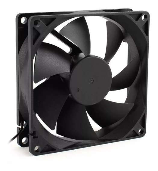 Cooler Fan Preto 120x120x25mm 12 Cm Gabinete Ventoinha