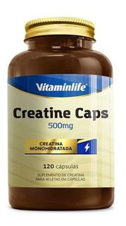 Creatine 500mg - 120 Cápsulas - Vitaminlife