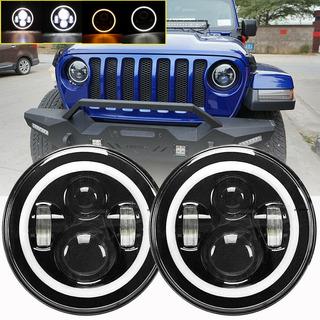 Faros Delanteros Led Jeep Wrangler Jk Lj Tj Cj