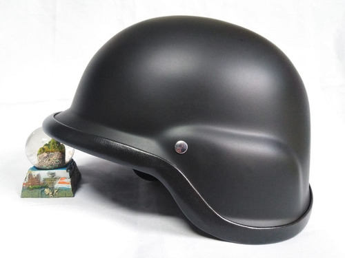 Casco De Moto  Aleman  Negro Brillo  Hard  Hay Tallas