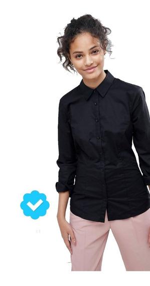Pack X3 Camisas Elastizadas Entalladas Damas - Manga Larga