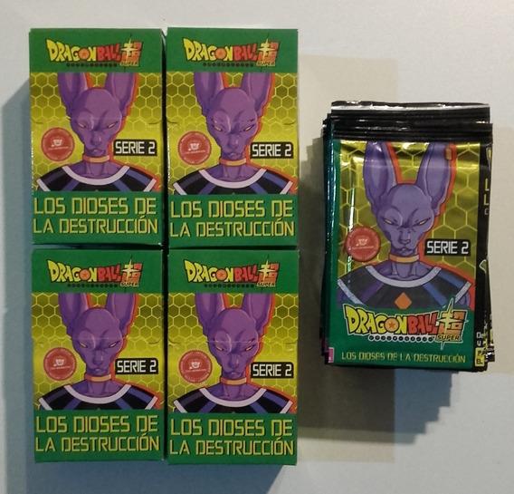 4 Cajas Y 25 Sobres Juego De Cartas Dragón Ball Z Serie 2