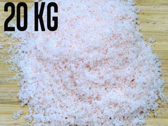 Sal Rosa Do Himalaia Fino Importado Iodado 20 Kg Com Laudo