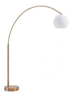 Lampara De Piso Modelo Griffith - Cobre Cepillado Këssa Mueb