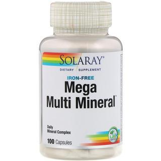 Mega Multi Minerais Solaray 100 Caps Original Importado Usa