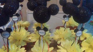 Mickey Brillante Personalizados Centro De Mesa X 10