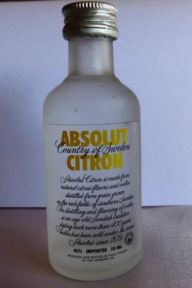 Vodka Absolut Citron 50cc Botellita Miniatura