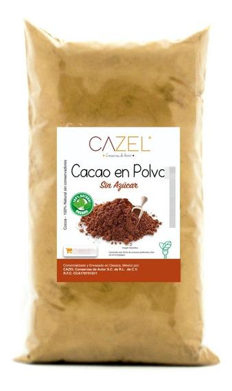 Cacao En Polvo Cocoa 100% Natural Oaxaca Artesanal 500g