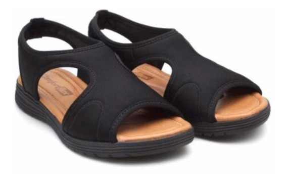 Sandália Tipo Ortopédica Lycra Confort Flex 1951404 + Meia